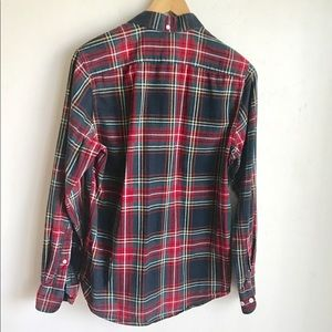 H&M Tops - H & M Red Black Plaid Button Front Shirt Size S
